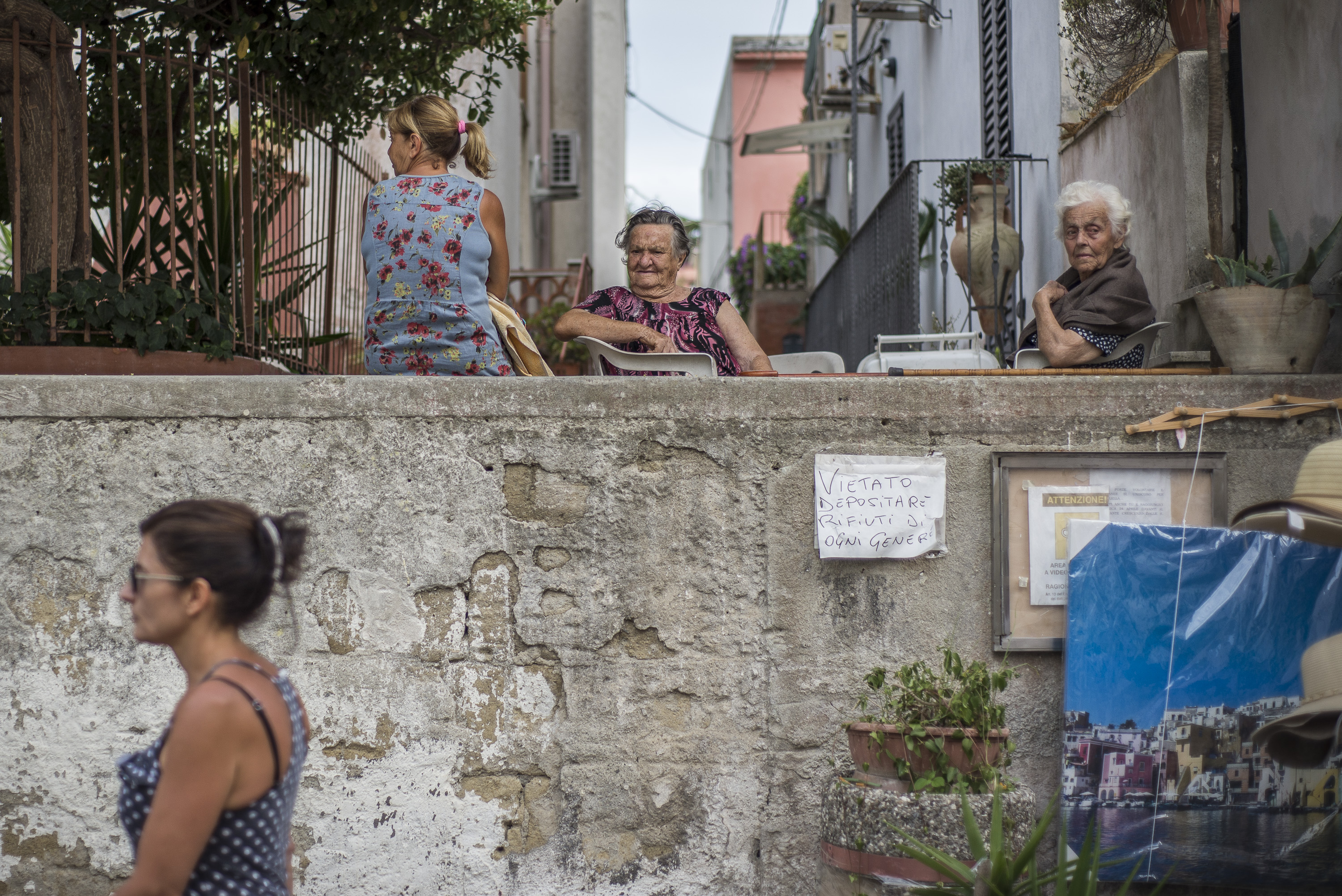 Senior Women, wife of the local fishermen in Procida, Italy