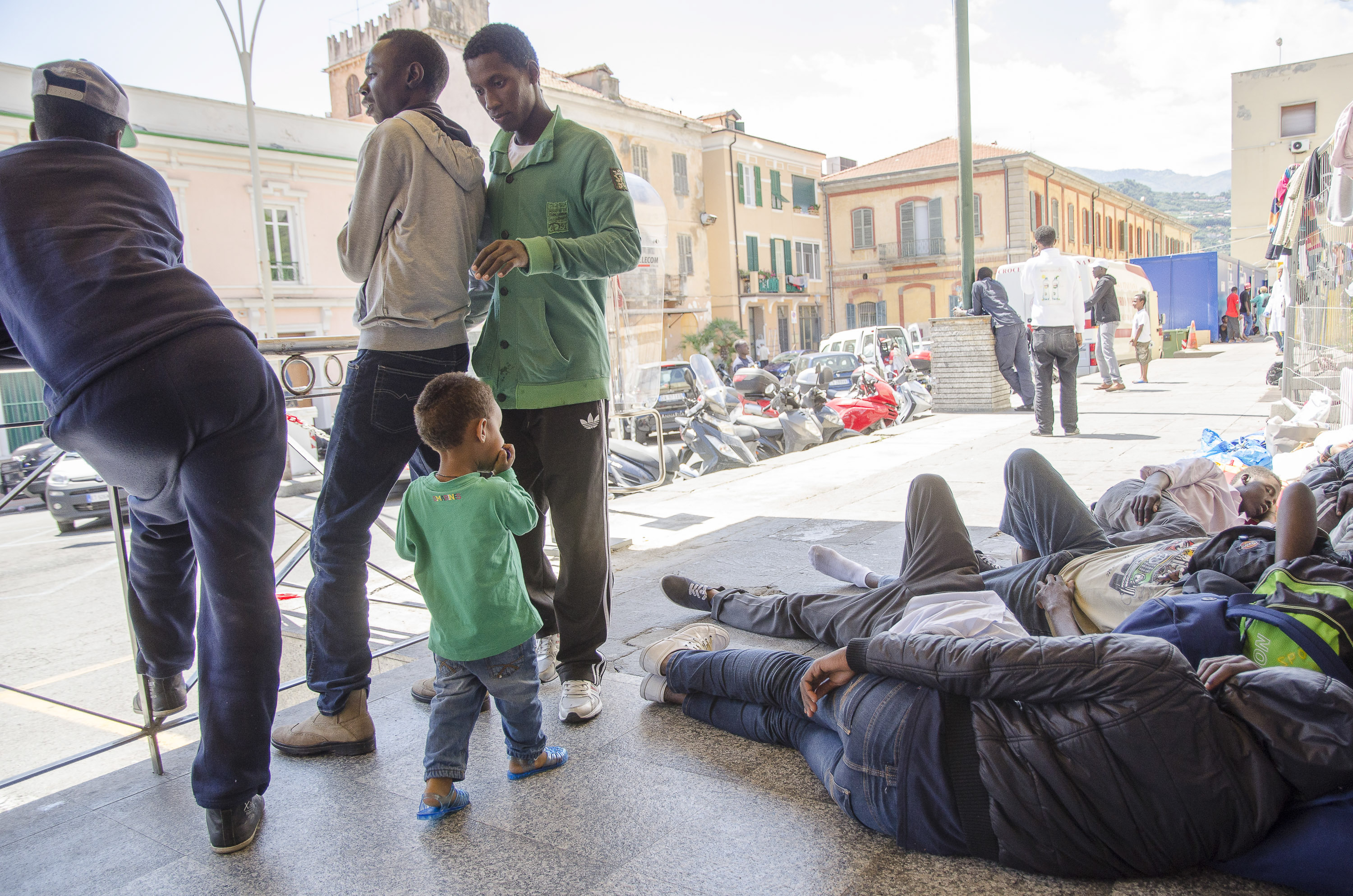 Refugees railway station in Ventimiglia